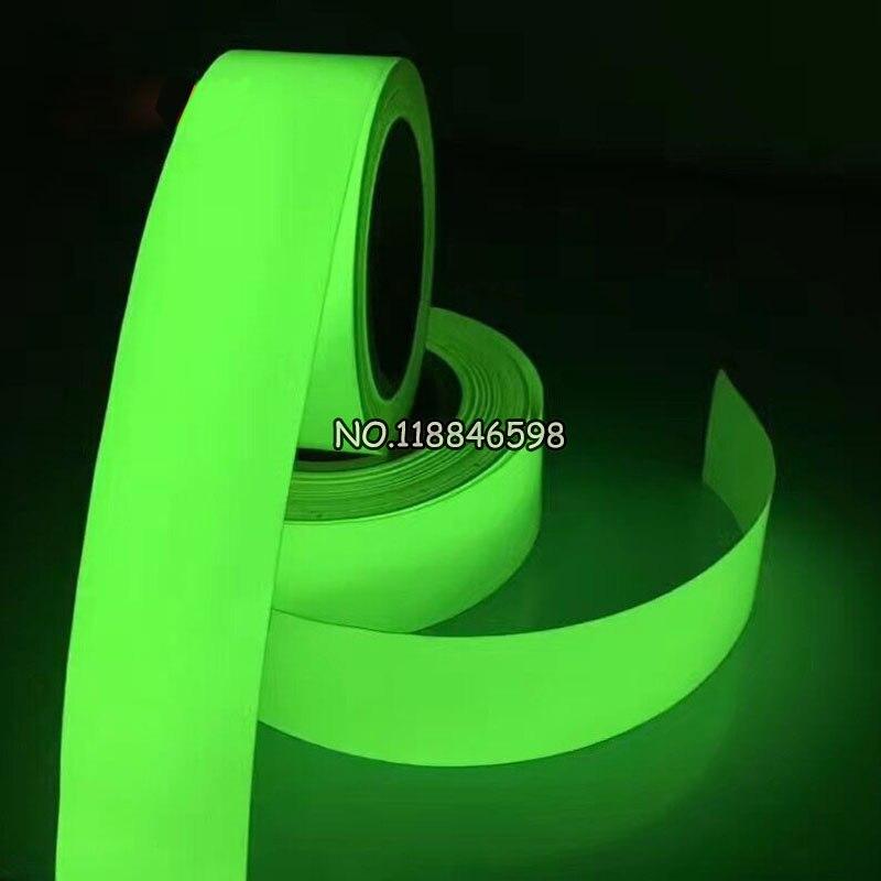 Vinilo luminiscente de PVC para transferencia de calor, vinilo brillante en la oscuridad (2 cm/3 cm/5 cm x 100 cm) prueba de muestra de alta calidad