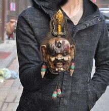 """Свадебное Украшение 9 """"тибетская воловья кожа бронза окрашенная бирюза, маска для головы из махкала Будда подвесной новый год"""