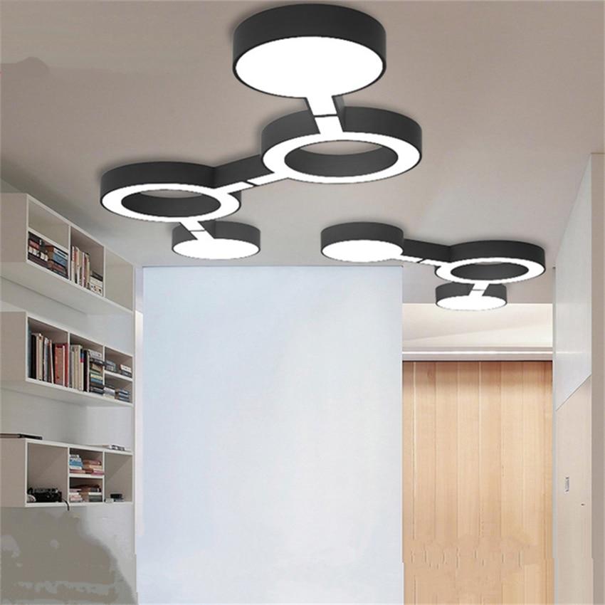 Modern Light Designer Lamp Loft  Led Ceiling Light Living Room Study Bedroom Combination Geometry Crop Circle Ceiling Lamp Decor