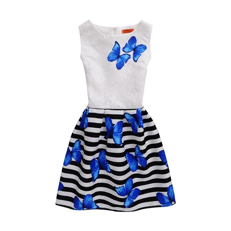 Nuevo diseño mariposa verano niñas Elsa vestido grande para niña grande 7-16T Vestidos Fiesta Infantil princesa niños niñas vestido