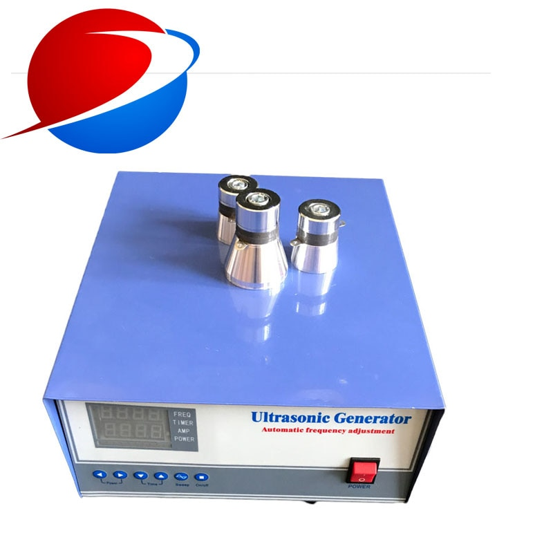 آلة تنظيف بالموجات فوق الصوتية, مزودة بمولد تحكم بتردد قابل للتعديل 3000 وات/28 كيلوهرتز