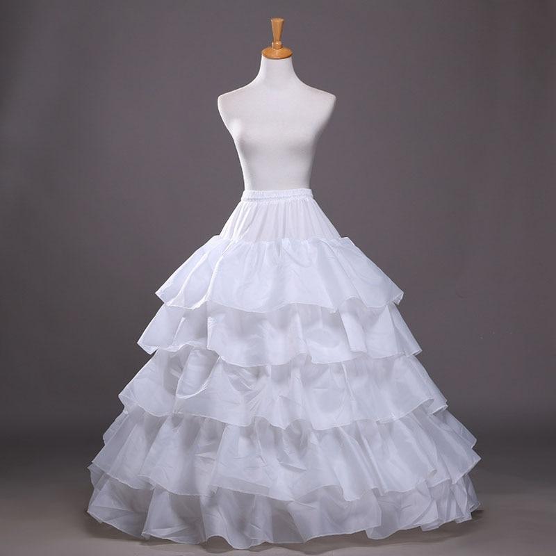 Boda enagua de novia de Hoopless tutú de baile vestido de crinolina mitad Slip baile enagua falda AIC88
