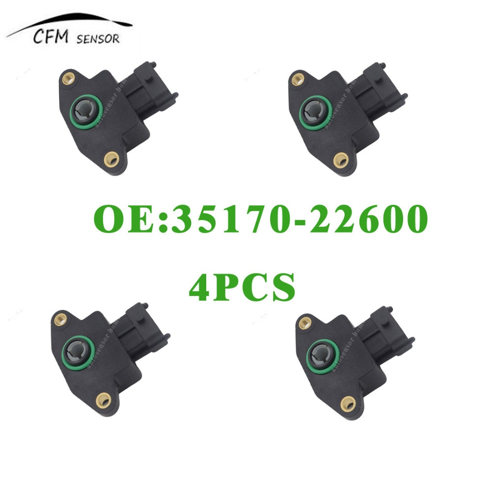 4pcs New Brand Throttle Position Sensor 35170-22600 TPS For Dodge Kia Hyundai Saab недорого