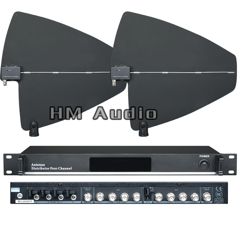 UA945 4 قناة هوائي الموزع 500-950 ميجا هرتز تردد ل ميكروفون لاسلكي تمديد 400 متر الهوائيات