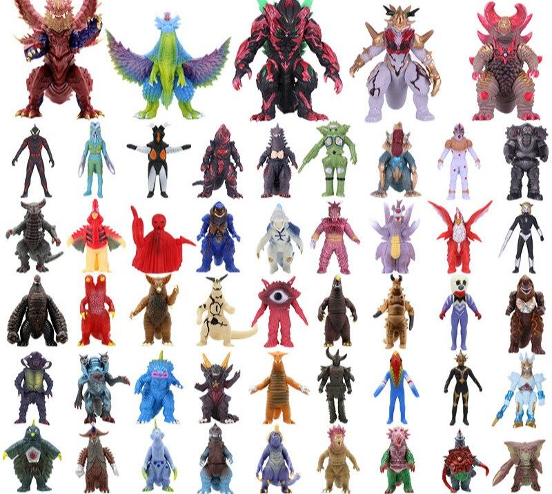 Dinossauro figura de ação collectible modelo brinquedos meninos crianças brinquedos criança anime desenhos animados filme ultraman monstros crianças presente