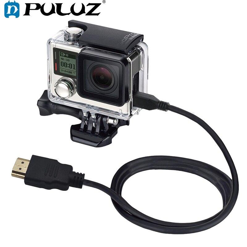 PULUZ видео 19 Pin HDMI к Micro кабель для GoPro HERO4/3 +/3/Sony/LG/Panasonic/Canon/Nikon/Смартфоны длина 1,5 м