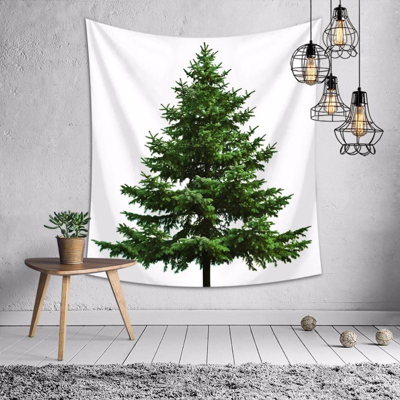 Tapiz de árbol de Navidad para colgar en la pared, casa de campo, decoración del hogar, toalla de playa, mantel de Picnic, mantel, macramé, colgante de pared