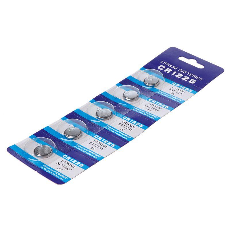 5 uds batería de litio de CR1225 electrónicos pila de moneda pilas de botón 3V LM1225 BR1225 KCR1225 CR 1225 reloj coche juguete de llaves remoto F42D