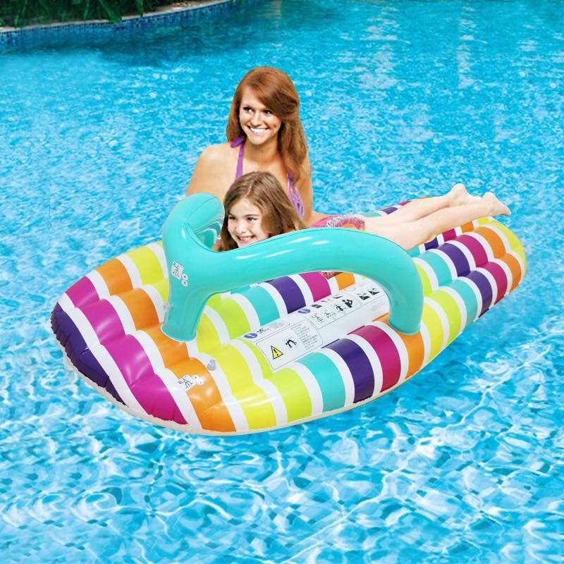 Zapatilla de rayas inflable, sandalia rebanada, sandalia, piscina, flotador, Isla, juguete de agua para niños adultos, zapatillas, anillo de natación, Fiesta en el mar