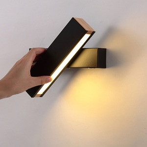 Thrisdar Nordic Wooden LED Wall Lamp 270 Degree Rotatable creative Bedroom Bedside Wall Light Aisle Staircase Reading Wall Lamps