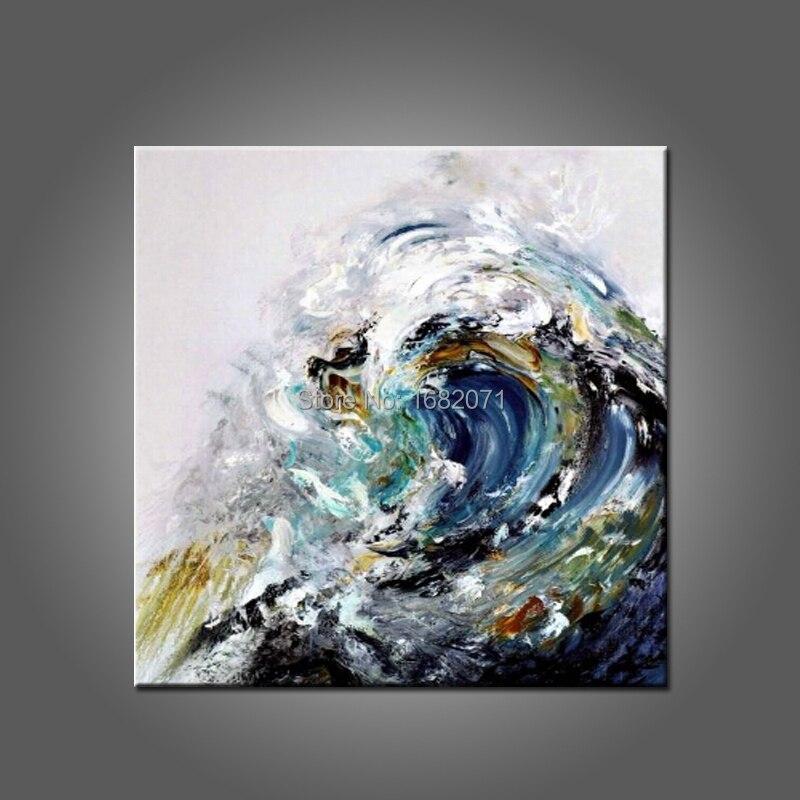 Forte Pittore Squadra Fatti A Mano di Alta Qualità Astratta Della Pittura A Olio Paesaggio Marino Waves Pittura A Olio Su Tela di Canapa Per La Decorazione Della Parete di Arte