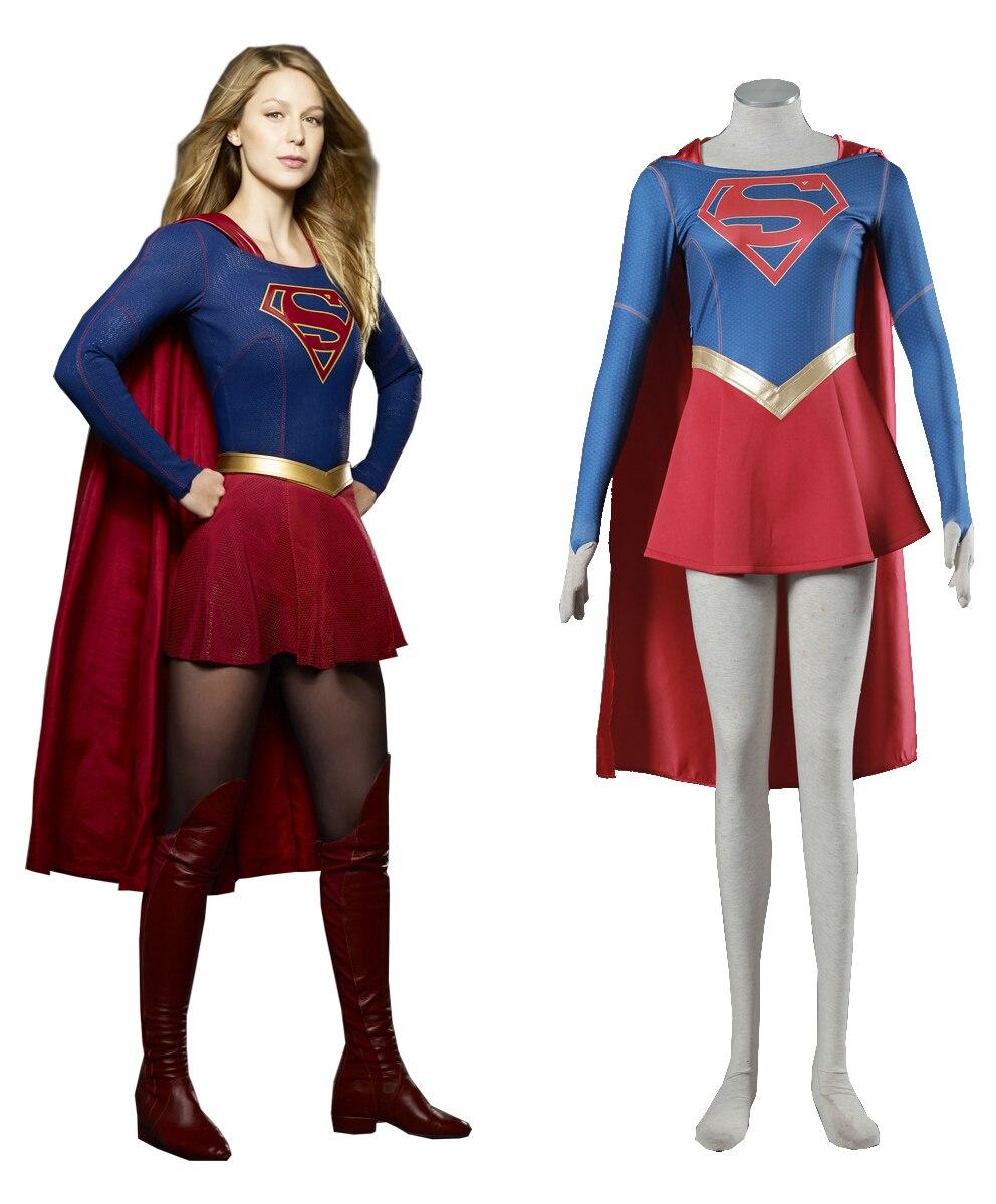 2018 Superwoman 1nd cosplay disfraz Supergirl Dana Dearden Cosplay vestido para Navidad Halloween fiesta