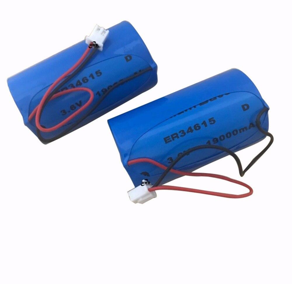 2 piezas ER34615M tipo D medidor de agua inteligente instrumento medidor flujo eléctrico PLC 3,6 V batería de litio ER34615 con enchufe envío gratis
