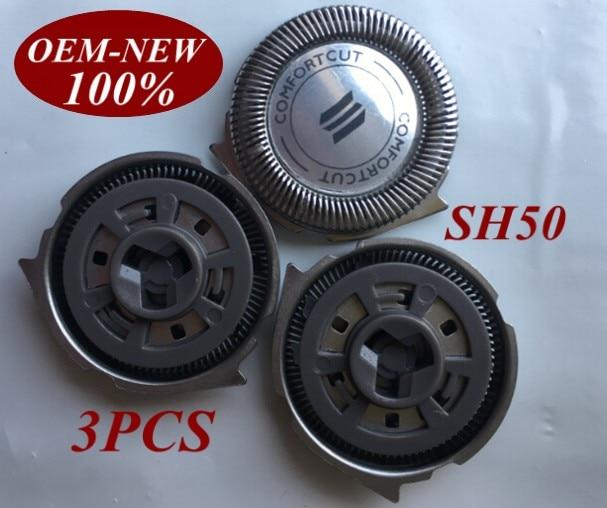 3 uds SH50 de la hoja de afeitar para philips shaver S5510 S5340 S5140 S5110 S5400 S9161 S5050 S7510 S510 S511 S512 S520