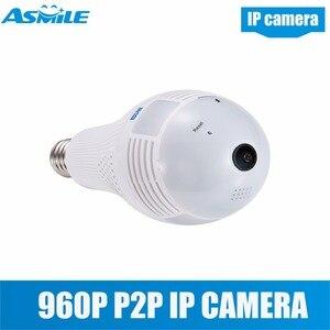 QP136 свет 360 градусов VR панорамная 1.3MP WiFi камера, поддержка обнаружения движения, сигнализация, сигнализация
