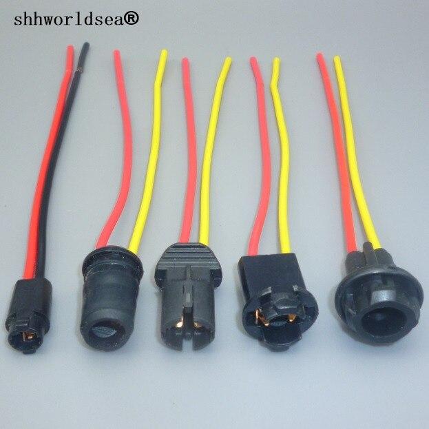 Shhworldsea 2 uds T10 W5W T5 suave adaptador soporte para bombilla cable LED Bombilla conector enchufe cuña Base bombilla enchufe