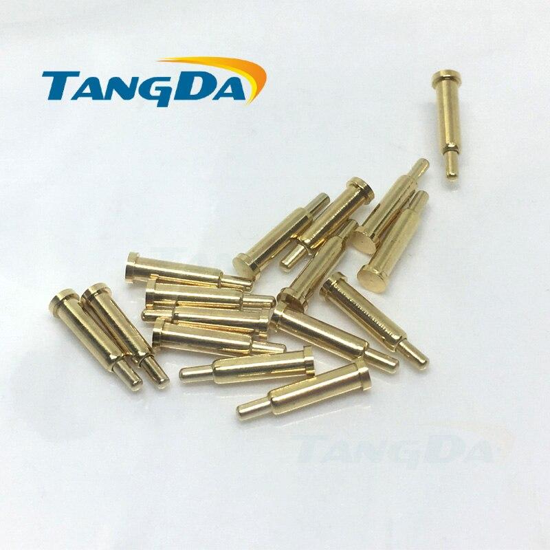 Tangda-دبوس اختبار ثنائي الفينيل متعدد الكلور مع مسبار زنبركي ، دبوس توجيه تيار عالٍ ، دبوس شحن A ، 1000 قطعة ، 2*8 مللي متر D 2*8