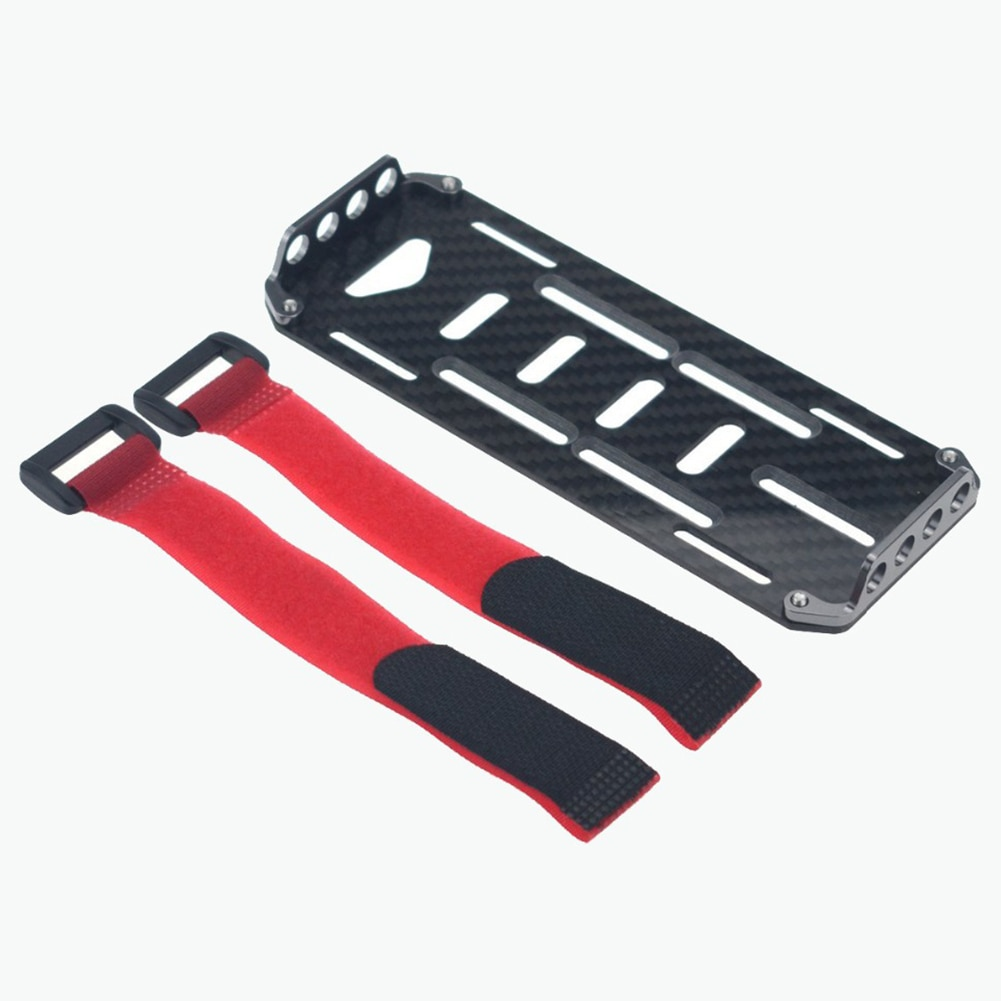 Bandeja modelo fibra de carbono fácil de instalar placa de montaje de la batería Universal juguete duradero simulación Axial RC oruga coche DIY