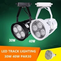 led track lighting with par30 30w 40w spot lamp led bulb for indoor lighting clothes jewel shop restaurant dining room