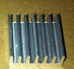 1 unids/lote Mini radiador Chip de tarjeta disipador de calor 12*12*5MM disipador de calor de plata