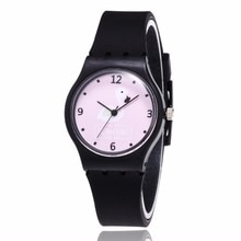 New Silicone Candy Jelly Color Student Watch Girls Clock Fashion Flamingo Watches Women Wristwatch C