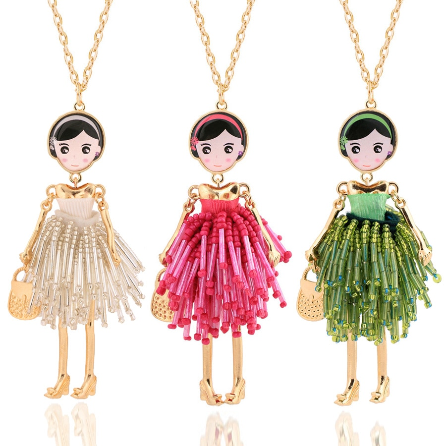 Chenlege, collares de moda para mujeres, colgante de joyería con abalorio y collar hecho a mano, collar de cadena largo clásico bohemio