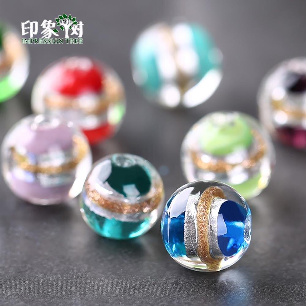 Стеклянные бусины с серебристой фольгой, 10 шт., 12 мм, разноцветные шармы с песочным узором ручной работ для самостоятельного изготовления ювелирных украшений, модель 16018