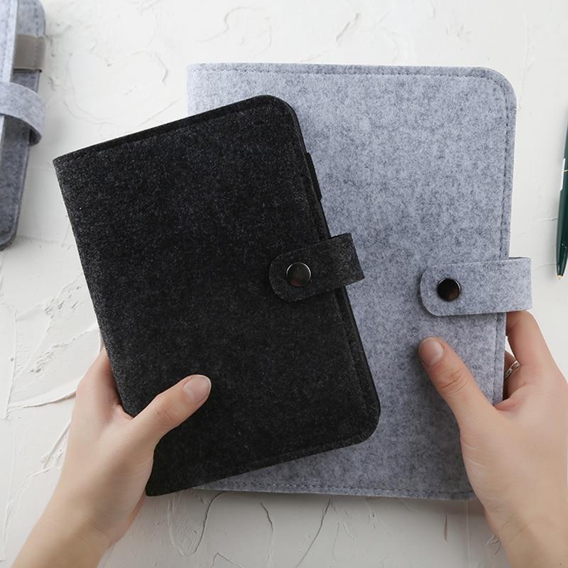 A5 A6 Fühlte shell stoff notebook Lose Blatt Notebook Papier Planer Innere Seite ringbuch Schreibwaren Geschenk Reisenden Journal