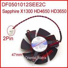 Freies Verschiffen ZUNSHAN DF0501012SEE2C 12V 0.05A 47mm Kühler Lüfter Für Sapphire X1300 HD4650 HD3650 Grafikkarte Kühler Fan 4Pin