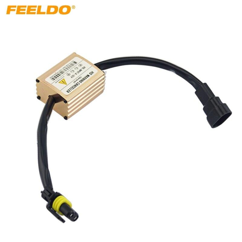 FEELDO Xenón HID luz Anti-Flicker advertencia Error decodificador condensador cancelador especial para nosotros/UE coche # CA1986