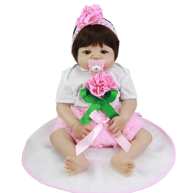 Muñecas KEIUMI realistas para bebés recién nacidos de 23 pulgadas, juguete de silicona para niñas recién nacidas, muñeca a prueba de agua con piel blanca, regalo para niños