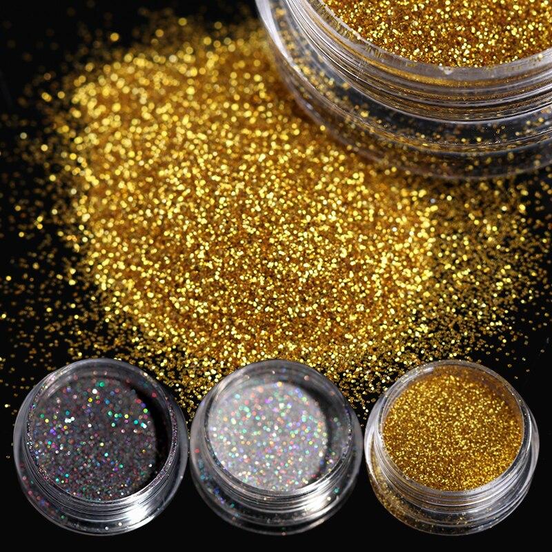 BORN PRETTY 1 g/caja nail Glittering Powder azúcar brillante polvo brillante Negro Nail Art pigmentos de decoración 8 colores