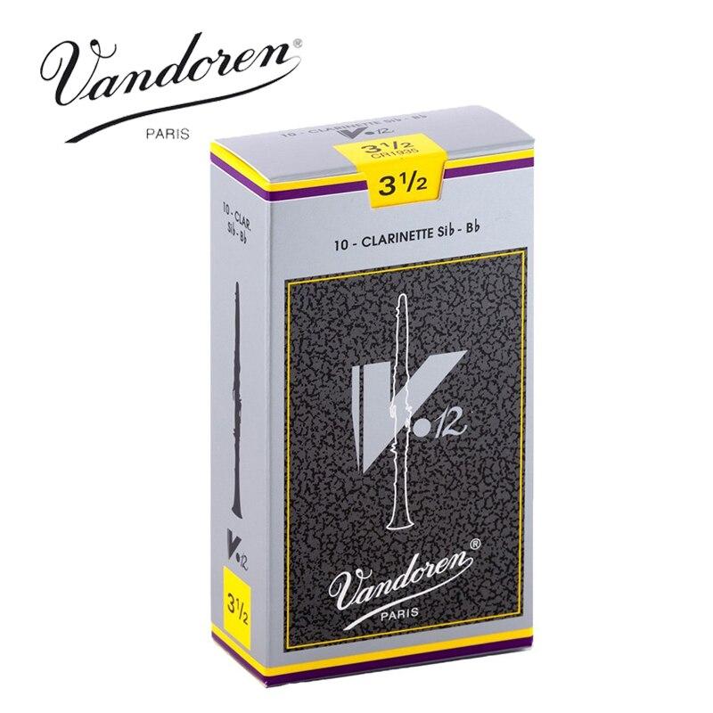 Original Francia Vandoren V12 lengüetas de clarinete Bb/Clarinette Sib-Bb Fuerza de las cañas 2,5 #3 #3,5 # caja de 10