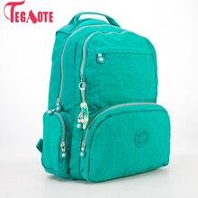 TEGAOTE sacs à Dos femmes école Sac à Dos pour adolescentes Mochila Feminina Escolar Nylon voyage sacoche pour ordinateur portable femme Sac A Dos