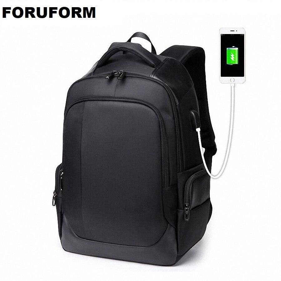 حقيبة ظهر للكمبيوتر المحمول متعددة الوظائف مع شاحن USB 15.6 بوصة ، حقيبة مدرسية للرجال ، سعة كبيرة ، مقاومة للماء ، LI2262