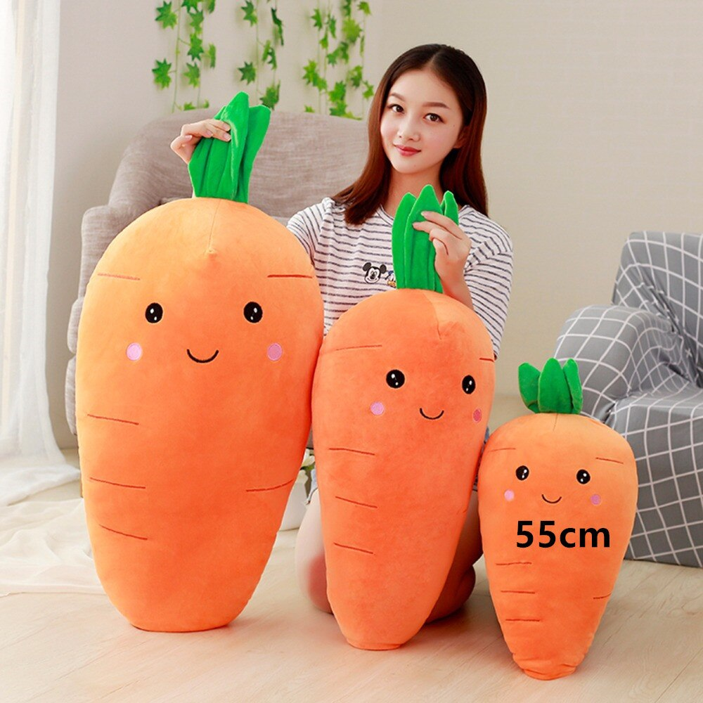75/95cm Cretive Simulation Plant Plush Toy Stuffed Realistic Carrot Down Cotton Super Soft Vegetable Pillow Lovely Gift For Girl