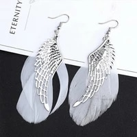 rinhoo new fashion white angel wings drop earrings for women exquisite feather bride wedding earrings 2021 new jewelry gifts