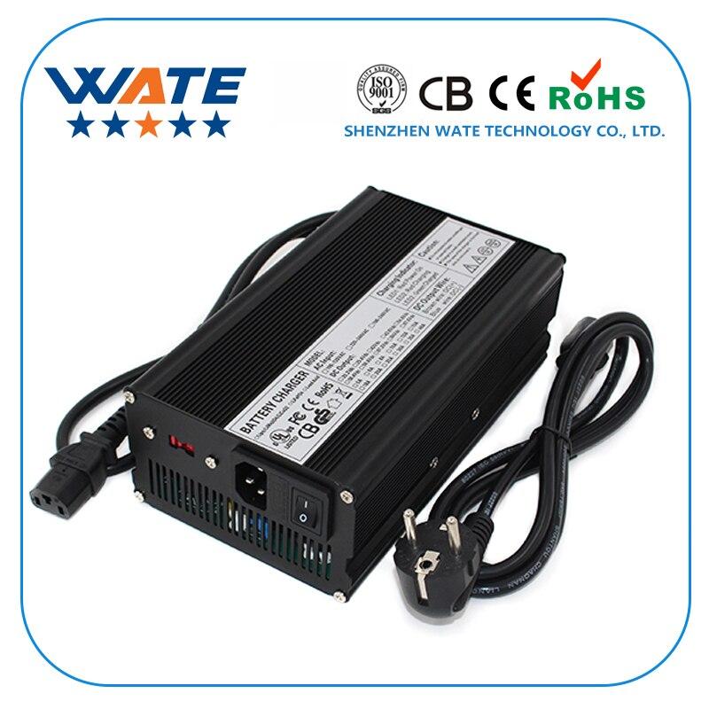 WATE-شاحن بطارية ليثيوم أيون 50.4 فولت 10 أمبير ، للدراجة الكهربائية ، كرسي متحرك ، سكوتر ، 12S 44.4V