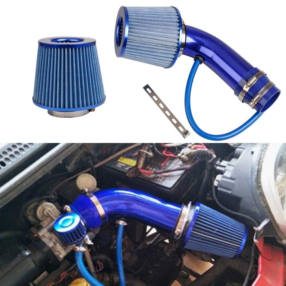 Kit de inducción de aluminio Universal para Filtro de aire frío de coche Sistema de manguera filtro de aire rojo azul 76mm/3 pulgadas cabeza de hongo