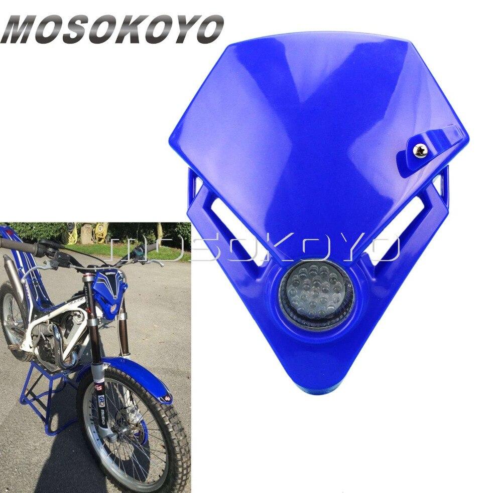 Синий светодиодный мини гоночный велосипед эндуро фара для газа TXT Pro 280 EC 300 450 пробный гоночный головной свет