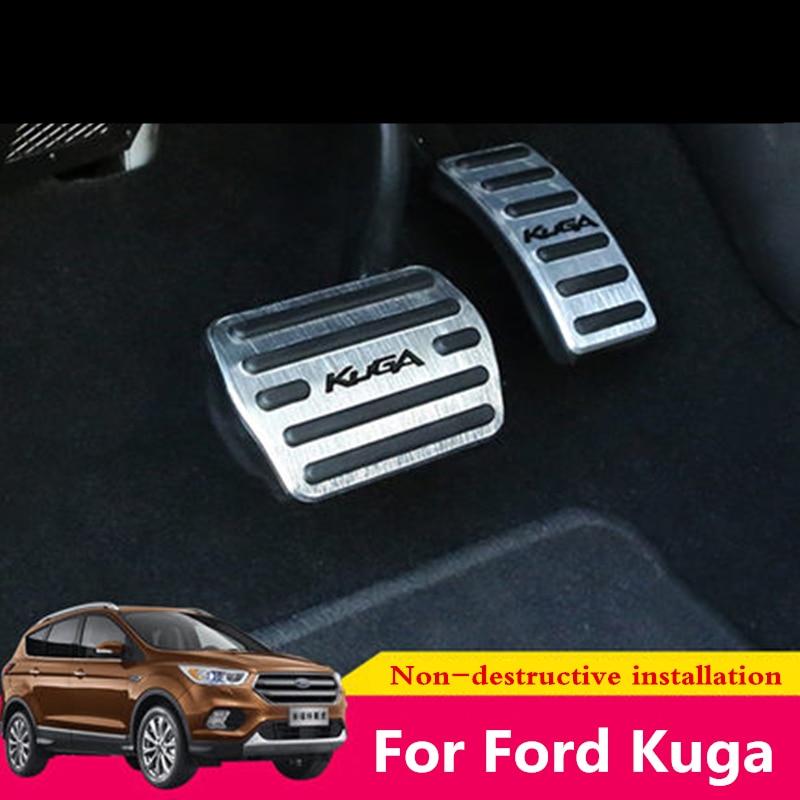 Para Ford Kuga 2013 2014 2015 2016 2017 2018 Liga Acelerador Pedal Pedal Do Freio Pedal de Gás Combustível Do Carro Tampa anti-slip Pedal