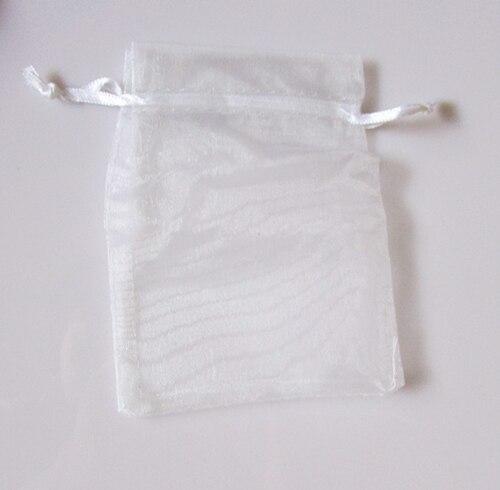 Wholesale 100pcs/lot,Drawable white Large Organza Bags 17 x 23 cmPackaging