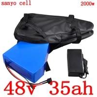48v 35ah lithium battery 48v 1000w 1500w 2000w electric bike battery 48v 35ah 30ah ebike battery pack use sanyo cell5a charger