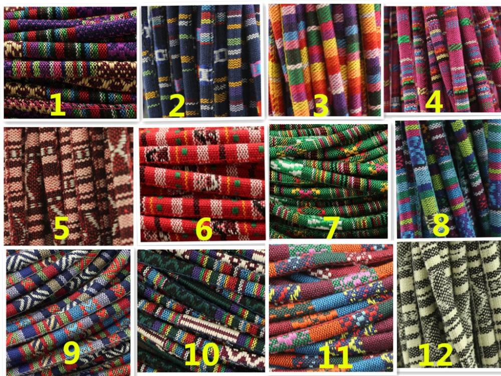 Envío Gratis 200 metros 6mm tela redonda cordón de algodón cordón étnico Azteca