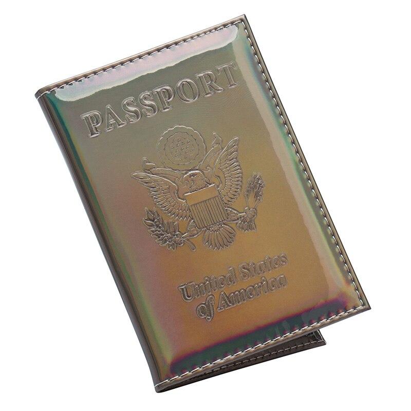 El espejo de EE. UU. Suave Moda Verde tamaño estándar internacional cubierta de pasaporte impermeable PU sólido de cuero adecuado para todos