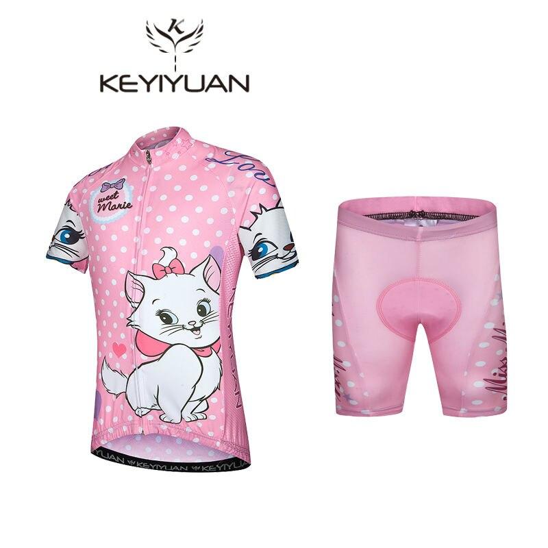 KEYIYUAN-Ropa de Ciclismo para niños, Ropa para montar bicicleta de carretera, pantalones...