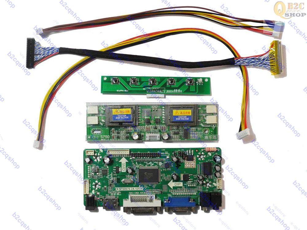 "(HDMI + DVI + VGA) LCD Placa de controlador Monitor Kit de bricolaje para 22 ""M220Z1-L0A 1680X1050"