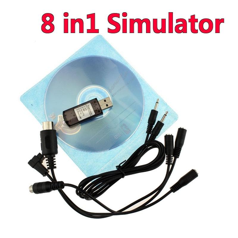 Тренажер 8 в 1 8 в 1 USB для (Phoenix, RealFlight G4, XTR, AeroFly, FMS) с поддержкой Futaba ESky JR WFLY