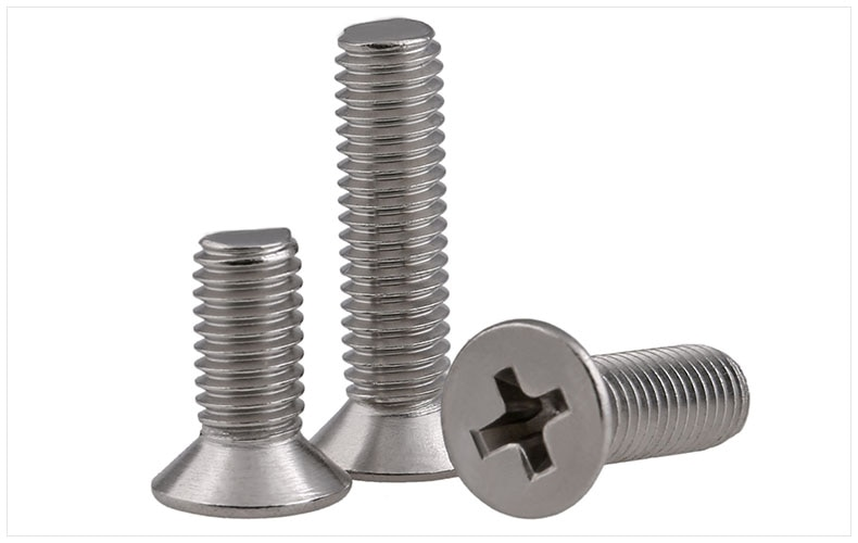Tornillos de cabeza plana de acero inoxidable 316 tornillos M2 M2.5 M3 M4 tornillos KM tornillos Phillips