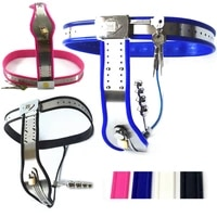 chastity belts adjustable waist stainless steel chastity pants with butt plug chastity device sex toys for female g7 5 34
